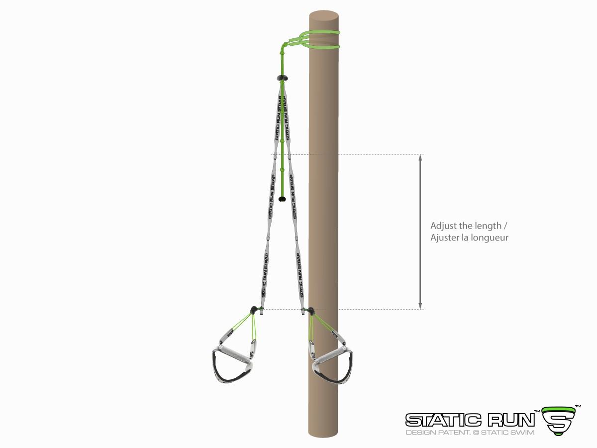 Suspension strap with non-slip LASSO attachment