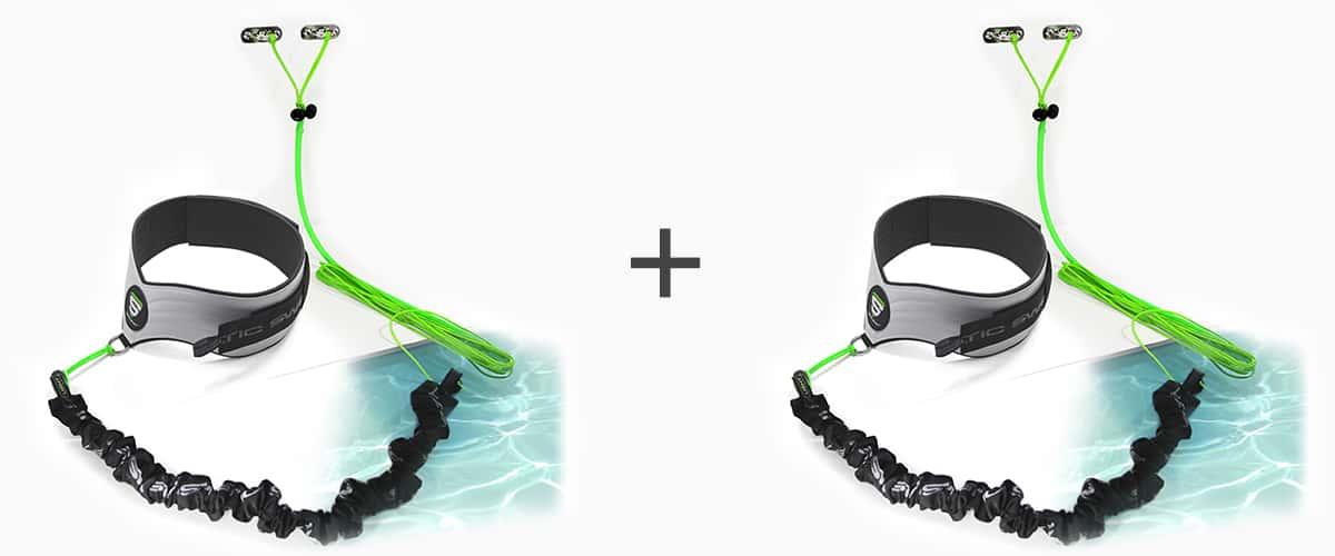 Ceinture et élastique de nage dynamique™ STATIC SWIM™ - deux personnes - piscine mur