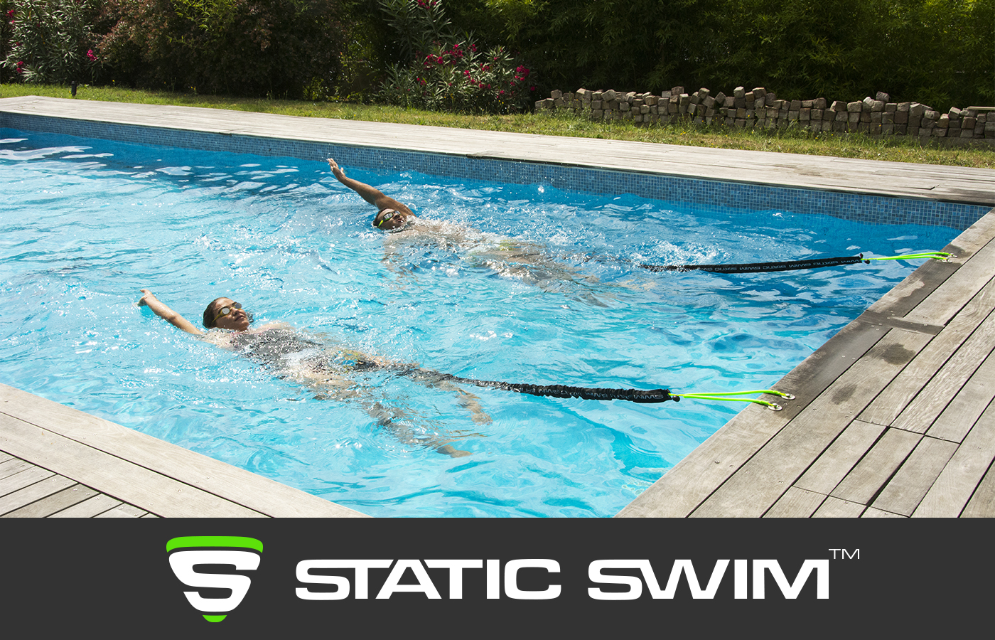 STATIC SWIM™ nager dos crawlé sur place